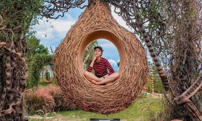 รีวิว U and ME Cafe Kanchanaburi ถ่ายรูปสวยในสวนรังนกบาหลีที่แรกในเมืองไทย