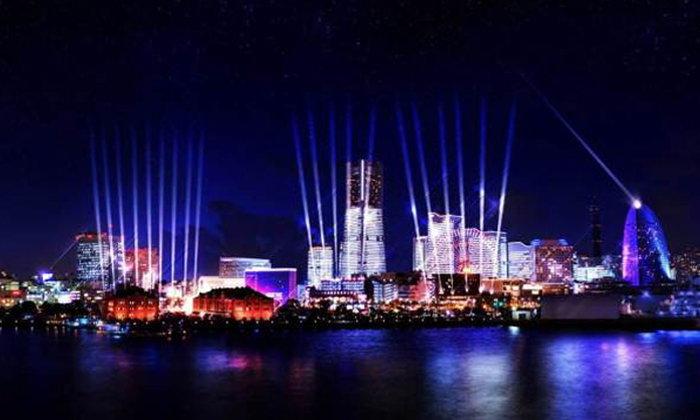 """NIGHT SYNC YOKOHAMA"" เทศกาลไฟประดับโชว์แสงสีเสียงกลางเมืองโยโกฮาม่า"