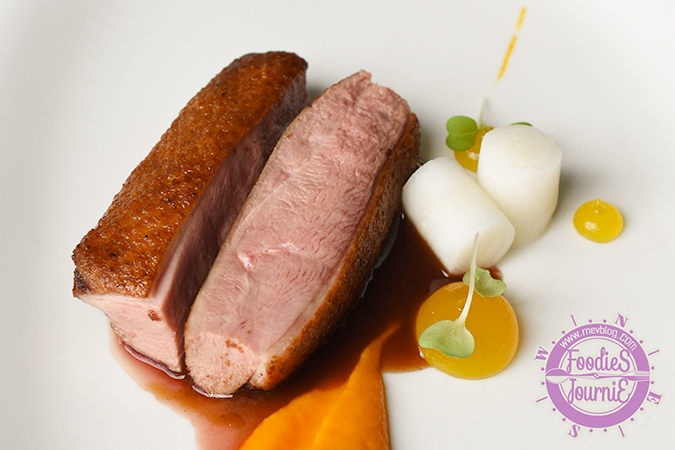 62c Sous-vide duck breast