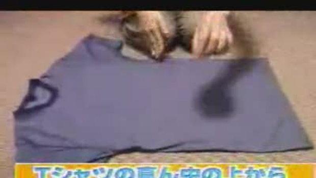 วิธีการพับผ้าแบบญี่ปุ่น