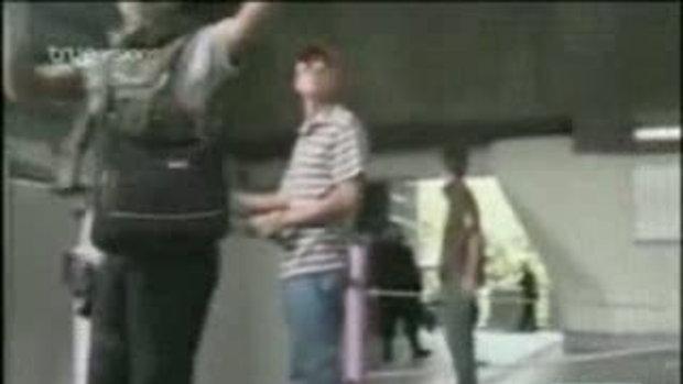 ภาพชายชุดดำ สำนักข่าวCNNลงในยูทูป