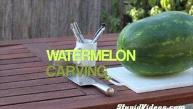 แกะสลักแตงโม อย่างเทพ!