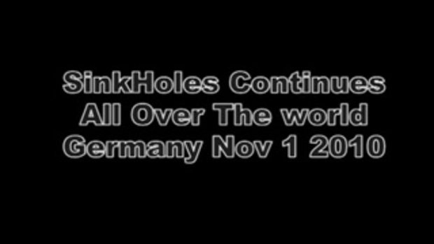 หลุมยุบขนาดใหญ่ กลางเมืองในเยอรมนี
