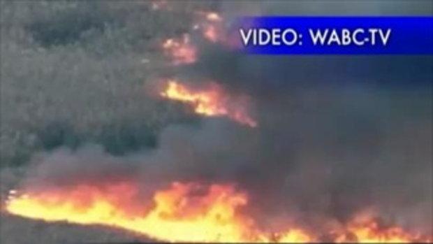 ไฟไหม้ป่า นิวเจอร์ซีย์ สหรัฐฯ