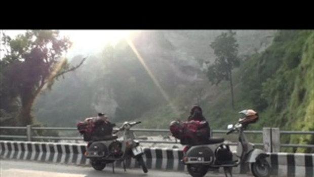เจโอ๋เวสป้าผจญภัย-วิวลำธารสวยในเนปาล(อินเดีย)