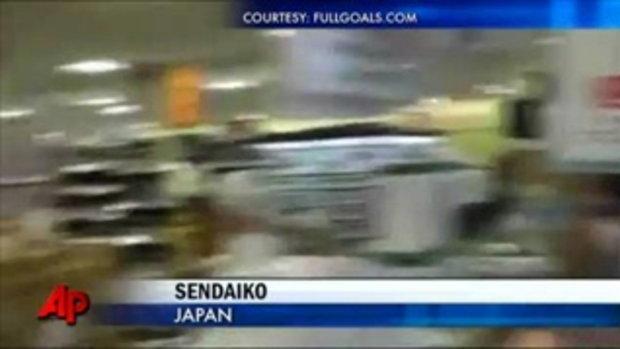 ภาพสด! ขณะแผ่นดินไหวในห้างสรรพสินค้า ญี่ปุ่น