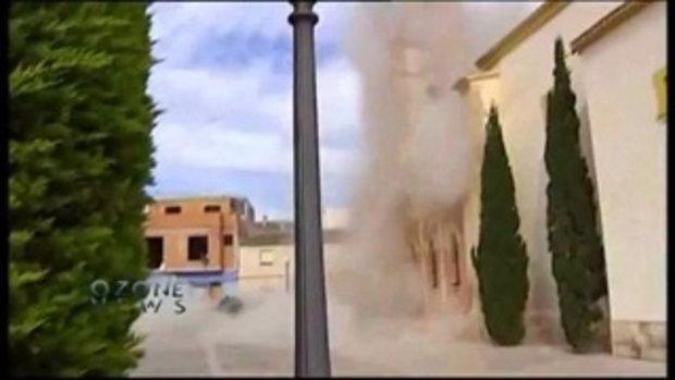 โบสถ์ถล่มที่สเปน