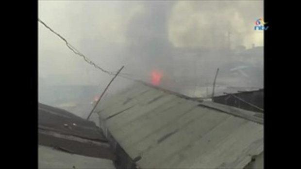 โศกนาฎกรรม ไฟไหม้สลัมเคนยา ตายมากกว่าร้อยศพ