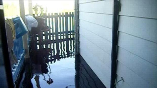 สภาพปริมาณน้ำริมฝั่งแม่้ำน้ำเจ้าพระยาและแนวเขื่อน กทม. วันจันทร์ที่24ตุลาคม