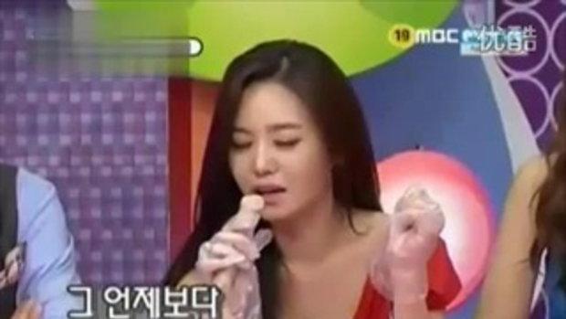 สาวเกาหลีเล่นเกมส์โชว์กินปิกะจู๋วัว