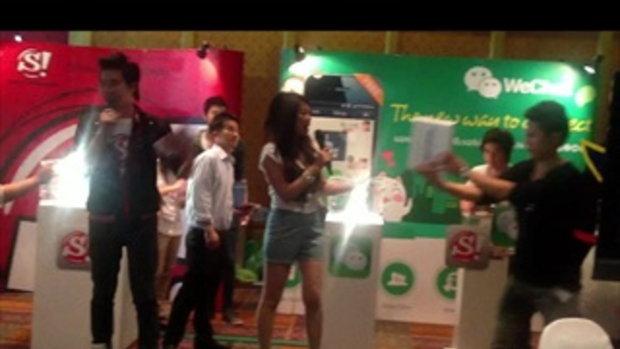 ผู้โชคดีที่ได้รับ The New iPad จากกิจกรรม WeChat ในงาน TME 2012