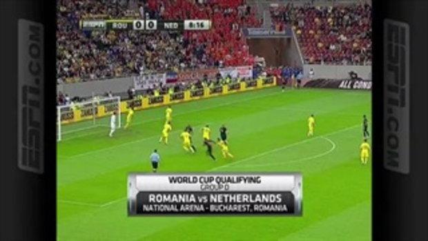 โรมาเนีย 1-4 เนเธอร์แลนด์ ฟุตบอลโลกรอบคัดเลือก
