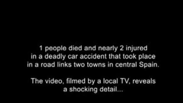 ถ่ายติดวิญญาณ บนเทปกล้องหลังจากที่เกิดอุบัติเหตุรถชนตาย