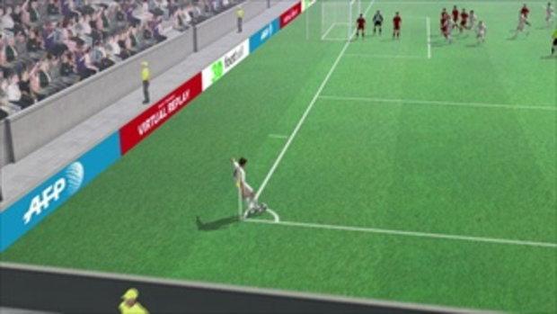 คลิปไฮไลท์ยูโร2012 3D โปรตุเกส นำ เดนมาร์ก 1-0