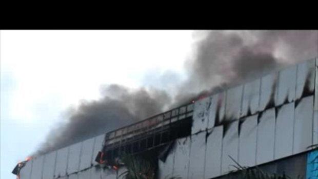 ไปดูไฟไหม้โรงแรมใหญ่ในภาคกลางเวียดนาม