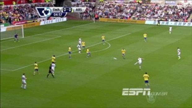 ไฮไลท์ฟุตบอล สวอนซี ซิตี้ 1-2 อาร์เซนอล