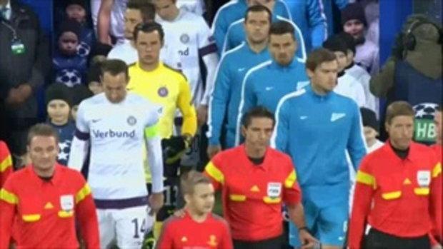 ไฮไลต์ฟุตบอล เซนิต เซนต์ ปีเตอร์สเบิร์ก 0-0 ออสเตรีย เวียนนา (UCL)