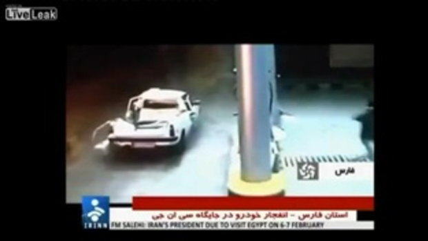 หวิดตาย! รถแก๊ส LPG ระเบิดสนั่นปั๊มน้ำมันในอิหร่าน