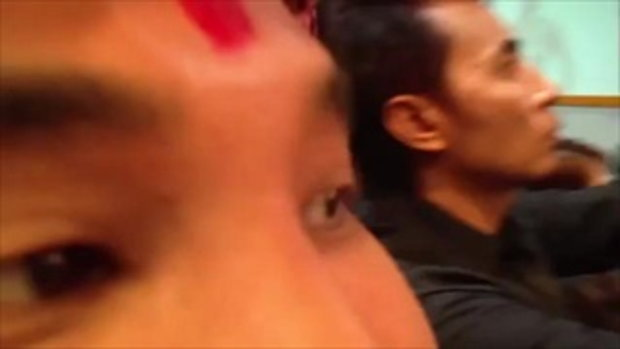 ฮือฮา แม่ยั่วเมืองโชว์เต้าบนเวทีในงานแฮร์โชว์ปี 2014