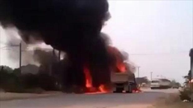 รถระเบิด ถูกเผาทั้งเป็น! [18+]
