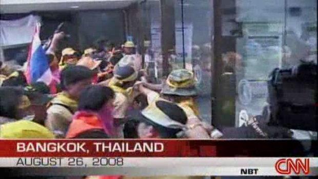 CNN ถ่ายทอดบรรยากาศการบุกรุกของกลุ่มพันธมิตร