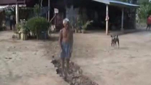 ชาวบ้านตื่น 2012 แผ่นดินแยก ที่ จ.กาญจนบุรี