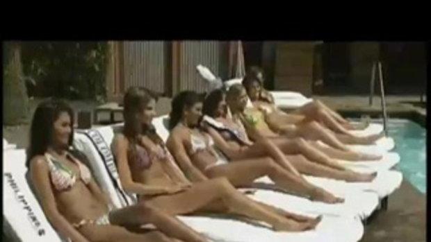 สาวสวย Miss Universe 2010 ถ่ายชุดว่ายน้ำ