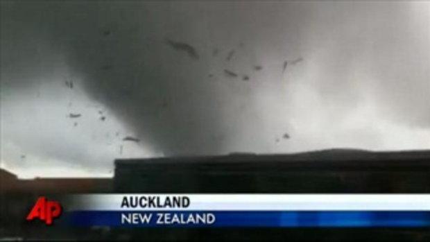 จับภาพ พายุทอร์นาโด ถล่มที่นิวซีแลนด์