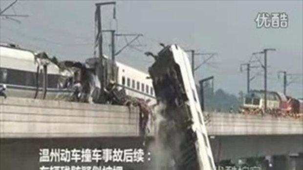 5 คลิปสลด! อุบัติเหตุรถไฟหัวกระสุนจีนฯ ที่เวินโจว 1/5