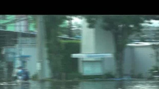 น้ำท่วมปทุมธานี รังสิตคลอง2เจโอ๋รายงาน 23ตุลาคม2554