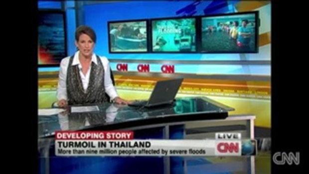 CNN ตีข่าว 9 ล้านคนไทย โดนพิษน้ำท่วม