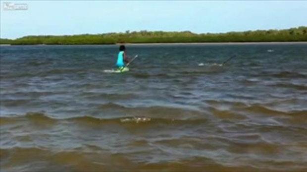 หนุ่มเจ๋ง ใช้หอกหาปลา ในทะเล ที่ออสเตรเลีย