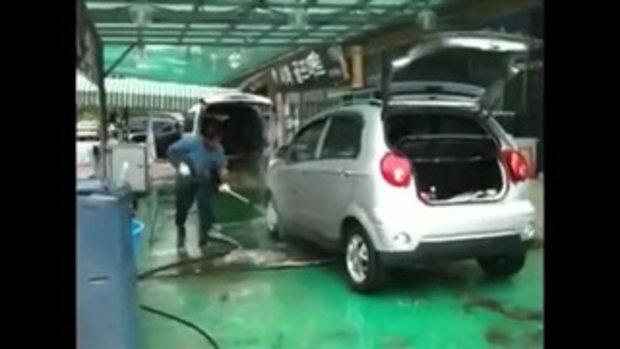 ล้างรถขั้นเทพ ล้างอัดฉีด เร็วสุดในสามโลก