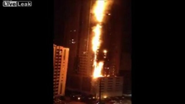 ไฟไหม้ตึก skyscraper ที่ดูไบ