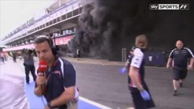 อุบัติเหตุไฟไหม้ สนามแข่งรถ F1