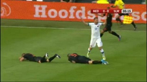 ไฮไลท์ฟุตบอลนัดกระชับมิตรฮอลแลนด์ 2-0 สโลวาเกีย