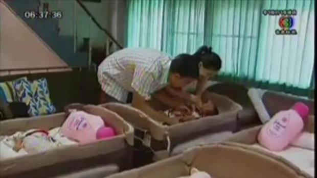 สาวไทยคลอดลูกแฝดหก