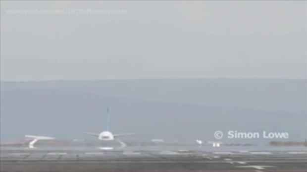 นาทีระทึก เครื่องบินแอร์บัสระเบิด กลางรันเวย์