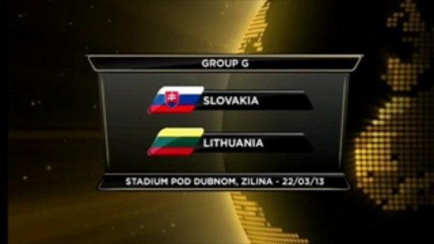 สโลวาเกีย 1-1 ลิทัวเนีย (บอลโลกรอบคัดเลือก)