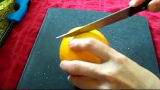 รู้หรือยัง เปลือกส้ม เป็นเทียนได้!