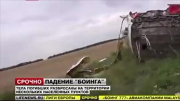 สภาพ เครื่องบิน MH17 ตก!