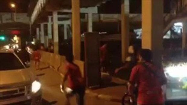 แฟนบอลเมืองทอง ท่าเรือ ปะทะหลังเกมไทยพรีเมียร์ลีก