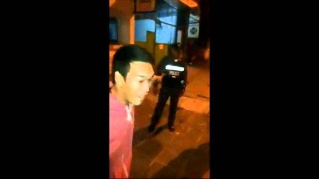 หนุ่มอ้างถูกตำรวจฟันแขน ร้องขอ