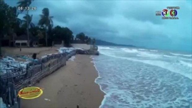 คลื่นลมแรงกัดเซาะชายหาดในพังงาเสียหาย (09 ก.ค.58)