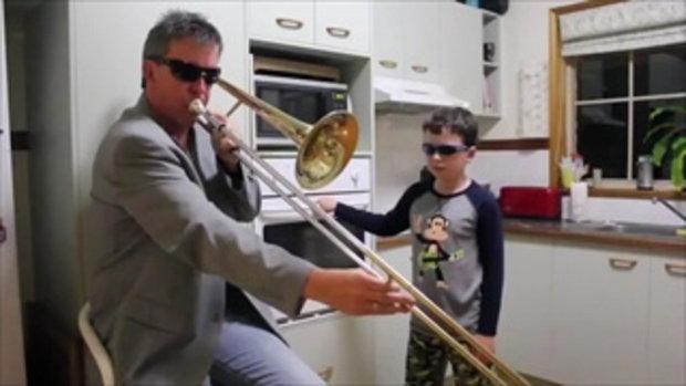 พ่อลูก แสบ แอบ cover music ตอนแม่ไม่อยู่บ้าน