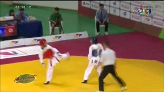 แบงค์ ศุภวิชญ์ คว้าเหรียญเงิน ศึกเทควันโดไทยยุวชนชิงแชมป์โลก (26 ส.ค.58)
