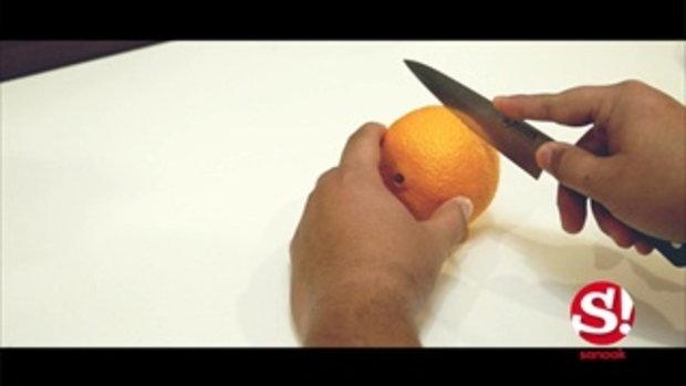 รู้หรือไม่ ส้มก็ให้ความสว่างเหมือนเทียนได้