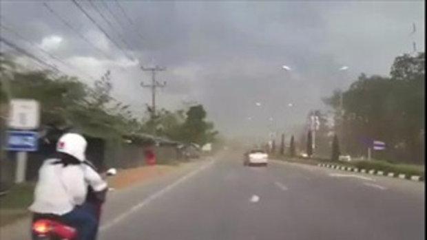 ลมแรงมาก!!! กิ่งไม้เกือบทะลุกระจก