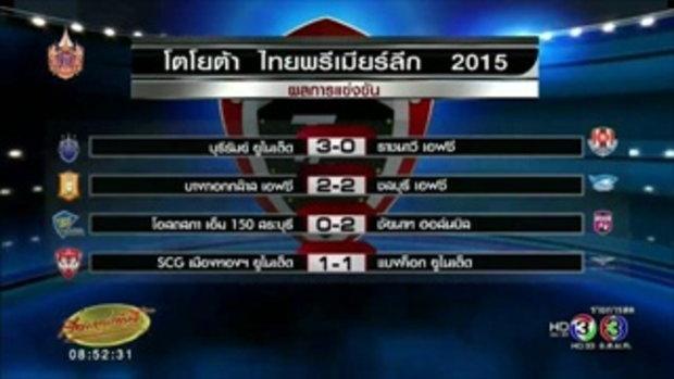 ผลฟุตบอลไทยพรีเมียร์ลีก วันที่ 26 เม.ย.2558 (27 เม.ย.58)