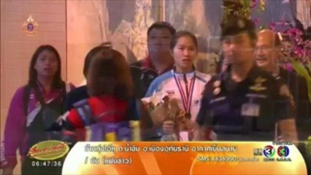 น้องเมย์ รัชนก หอบแชมป์แบดเอเชียกลับไทย ตั้งเป้าลุยโอลิมปิก 2016(28 เม.ย.58)